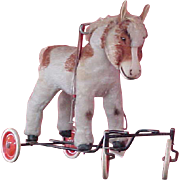 REDUCED Darling Child-size Riding Steiff Horse