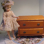 REDUCED Darling Vintage Wooden Doll Dresser