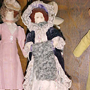 REDUCED Rare Find!  Set of 20 WPA Historically Dressed Dolls