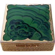 Vintage Italian Enamel Faux Stone Pill Box
