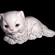 Goebel W Germany Gray Long Haired Cat Figure