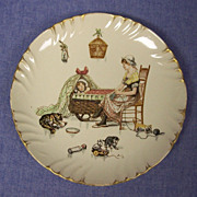 SALE French Sarreguemines Character Story Plate  Froment Richard