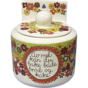 Figgjo Flint Flour Box Norway Pottery Turi Folklore