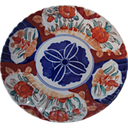 Old Japanese Imari Red & Blue Plate