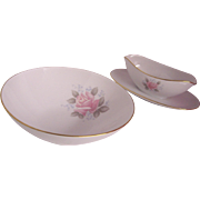Noritake Roseville Gravy Boat & Serving Bowl
