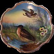 Gorgeous Carlsbad Austria Birds in Marsh Wall Plate