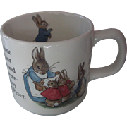Wedgwood Peter Rabbit Beatrix Pottery Handled Cup