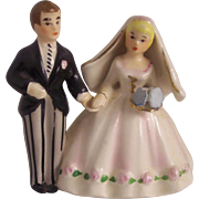 Lefton Japan Bride and Groom Cake Topper Figurine
