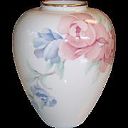 Lenox Porcelain Chatsworth Vase with Roses
