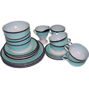 SALE Hazel Atlas Ovide 21 Pc Turquoise Dishes