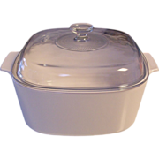 Corning White 5 L Covered Casserole Dutch Oven