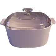 Corning All White 3 L Covered Casserole