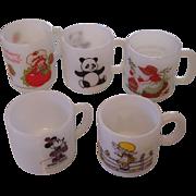 5 Character Mugs - Anchor, Glasbake , Federal