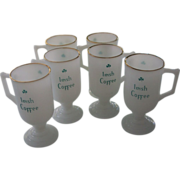 6 Irish Coffee Pedestal Mugs by Federal