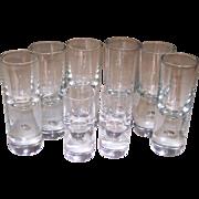 Kosta Sweden Pippi Glasses Total 8