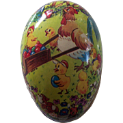 German Paper Mache Easter Egg Candy Container