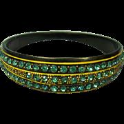 SALE Art Deco Celluloid & Rhinestone Bangle Bracelet Upper Arm