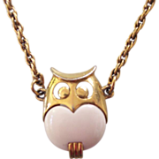 Trifari Owl Pendant Necklace