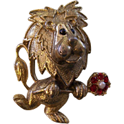 Whimsical Leo the Lion Brooch by Gerry's