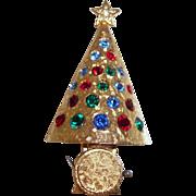 SALE Hattie Carnegie Christmas Tree Brooch Book Piece