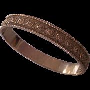 Whiting & Davis Gold tone Clamper Bangle Bracelet