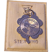 Sterling Silver Puerto Rico Souvenir Charm