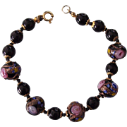 Italian Black Wedding Cake Beads Bracelet