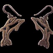 Sterling Silver Dolphin Earrings