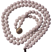 Richelieu Double Strand White Bead Necklace
