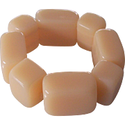 Chunky Lucite Tile Expandable Bracelet