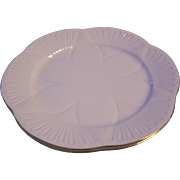2 Shelley Regency Dainty 8 inch Plates White with Gold Trim