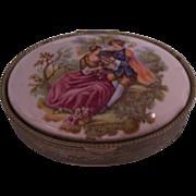Fragonard Courting Couple Trinket or Pill Box