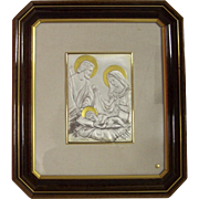 SALE Sterling Silver Italy Holy Family Romagnoli Wall Plaque Zeta Studio d'arte