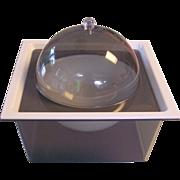 Vintage Smokey Acrylic Lucite Domed Ice Bucket