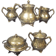 SALE Pairpoint 5 pc Silver Plate Tea Set