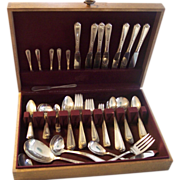 "SALE 92 pc National Silver Plate ""Nineteen"" Flatware Set"