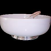 Towle Sterling & Melamine Salad Bowl & Utensils Set