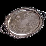 Large Sheridan Fine Silver Plate Tray Platter