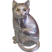 Christofle France Silver Plate Cat Lumiere
