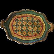 Vintage Italian Florentine Toleware Tray