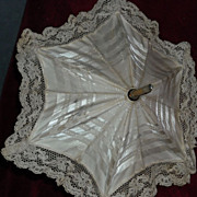 Elegant antique Silk and Lace Doll Parasol
