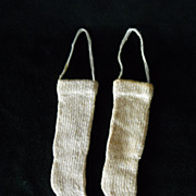 Antique Hand Knitted Doll Stockings