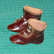 SOLD Great Antique Keystone Boots for French Fashion Dolls
