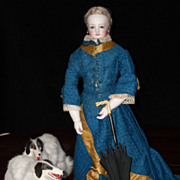 SOLD Amazing Antique Wood-bodied Jumeau French Fashion Doll