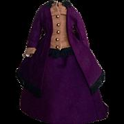 Antique or Vintage French Fashion Woolen Ensemble /Dress