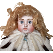 SALE PENDING Antique Hand tied Blond Mohair Doll Wig