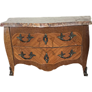 SOLD Antique French Doll Marble Top Commode