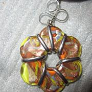 SALE Art Glass Flower Necklace Handmade  from Murano Venice