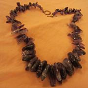 SALE Gorgeous Genuine Amethyst Necklace 100 grams