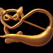 SALE Modernist Cat Pin Meowwww!
